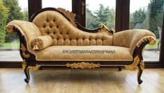 Comfortable Fainting Couch For Inspiring Antique Couch Design Ideas: Wonderful Beige Fainting Couch With Cozy Wooden Floor chaise lounge cha. Victorian Furniture, Deco Furniture, Lounge Furniture, French Furniture, Unique Furniture, Luxury Furniture, Furniture Design, Balcony Furniture, Lounge Sofa