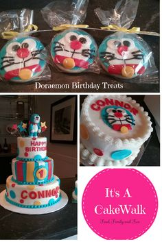 Doraemon Cake Cookies Smash 1st Birthday Party
