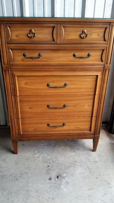 Cherry Wood Dresser Highboy National Of Mt Airy Nc Garden Furniture
