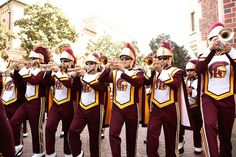 Trojan Marching Band performs for the Grand Opening of Wallis Annenberg Hall