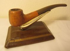 Vintage Antique Squat Bent Billiard Style Estate Briar Tobacco Smoking Pipe NICE