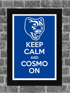 Keep Calm BYU Cougars NCAA Print Art 11x17. $14.99, via Etsy.