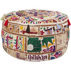 A pouf from Surya is the perfect modern decor accessory to add to any child's nursery, bedroom or playroom. These multi function decor items will not only add a spark of visual interest and color, they are kid friendly and fun to play with!
