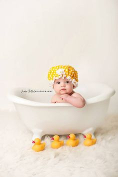 RTS baby mop hat in cream ivory with lace by CherryBlossomTale ... ae86a9b39139