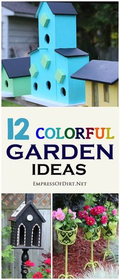Kick your garden up a notch with these 12 Colourful Garden Ideas at empressofdirt.net