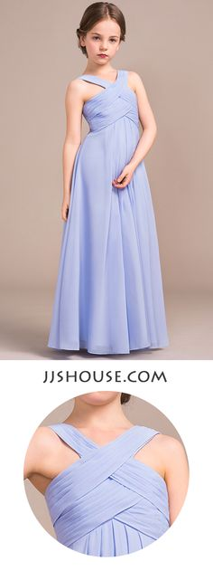 The younger girls in your party will blend seamlessly in this junior bridesmaid dress. #jjshouse