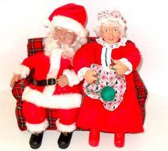 Vintage Mr & Mrs. Santa Claus Animated Motionette Christmas Holiday Creations 11 Christmas Holidays, Christmas Decorations, Christmas Ornaments, Holiday Decor, Mrs Claus, Vintage Santas, Elf On The Shelf, Cross Stitch, Animation