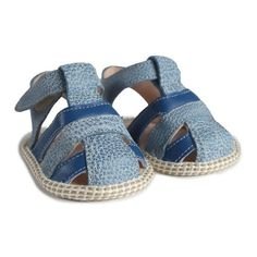 PasKap Gauthier Blue Mouchete Bleu (215 BRL) ❤ liked on Polyvore featuring baby, baby shoes, blue and kids