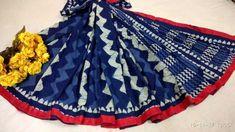 New collection of pom pom lace sarees of bagru ajrakh print, kalamkari pallu, indigo print etc with blouse piece.