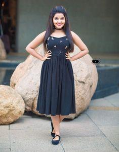 Indian Actress Anupama Parameswaran Photo Shoot In Blue Dress Beautiful Girl Photo, Beautiful Girl Indian, Most Beautiful Indian Actress, Beautiful Women, Girl Photo Poses, Girl Poses, Photo Shoot, Stylish Girl Images, Stylish Girl Pic
