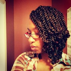 Fascinating #twists #naturalhair  #naturalhairstyle