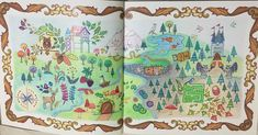 Map to the Enchanted Forest #johannabasford #enchantedforest #coloring #stressfree