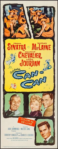 "Can-Can (20th Century Fox, 1960). Insert (14"" X 36""). Musical.. ... 