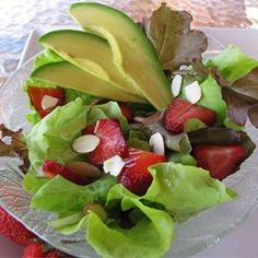 "Strawberry Avocado Salad | ""I have served this countless times and I am always asked for the recipe, I also use this dressing on many other salads. Enjoy"""