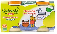 Omogeneizzato biologico merenda Pera e Yogurt 2x125g