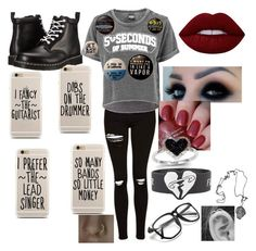 """5SOS CONCERT"" by boybands4lyfe ❤ liked on Polyvore featuring Topshop, Dr. Martens, Lime Crime and Kevin Jewelers"