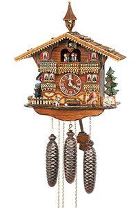 Chalet-Kuckucksuhren Kuckucksuhr 8-Tages-Uhrwerk Chalet-Stil 40cm von Anton Schneider