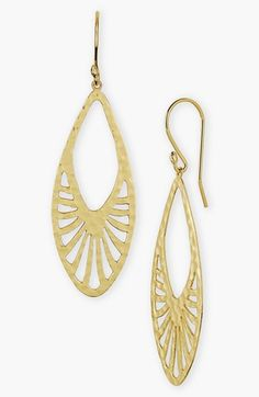 Argento Vivo 'Fan' Hammered Drop Earrings available at #Nordstrom