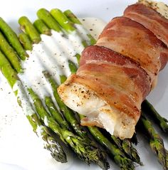 Bacon wrapped cod...great idea, but I found out I don't really like the taste of cod. hahaha oh well.