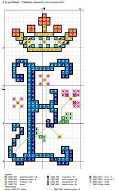 alfabeto maiuscolo con corona e fiori E