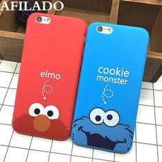 Mode niedlichen cartoon cookie elmo weiche tpu schlank wieder abdeckungen für iphone 6 6 s 5 5 s se lustige silikon ultra thin telefon case shell