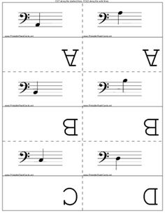 These free printable flash cards will help you memorize the notes on the bass clef. Free to download and print
