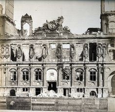 Adolphe Disderi - Hotel de Ville After Paris Commune, 1871 by The History of Photography Archive, via Flickr