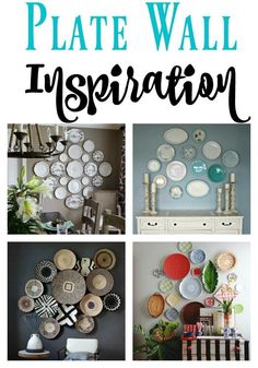 If you love the fun, sporadic look of a plate wall, you have got to check out this post of gorgeous plate wall inspiration for your home! Plate Collage, Plate Art, Wall Collage, Hang Plates On Wall, Plate Wall Decor, Inspiration Wand, Butterfly Wall Decor, Plate Display, Wall Fans