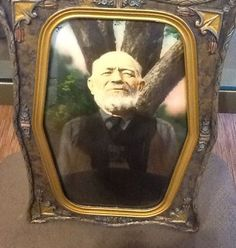 Vintage Glass Picture Frames | Vintage/Antique Picture Frame, Curved Glass and Hand Tinted Photo Glass Picture Frames, Antique Picture Frames, Curved Glass, Antique Prints, Framed Wall Art, Vintage Antiques, Painting, Glass Photo Frames, Antique Photo Frames