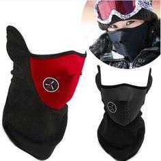 Outdoor Cycling mask windproof Cool ride bike mask winter Warm Dust Proof anti fog half face CS mask motorcycle ski sport mask