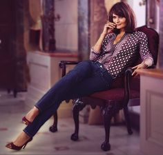 Helena Christensen, from a Not Your Daughter's Jeans ad.
