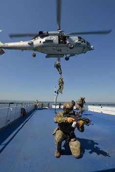 """US Coast Guard MSRT practicing vertical insertion on a ferry in Norfolk high speed low drag, multicam tactical gas mask """"the good guys""""  DSF"""