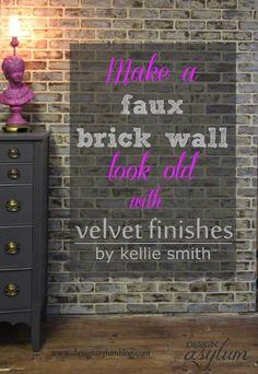 DIY: Making faux brick walls look old