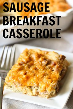 Breakfast time is supposed to be the best meal of the day and with this sausage breakfast casserole, you will be getting the best! Full of great protein and flavor, you can't go wrong with this casserole. Best Breakfast Casserole, Crescent Roll Breakfast Casserole, Egg Recipes For Breakfast, Sausage Breakfast, Breakfast Time, Breakfast Ideas, Breakfast Dishes, Brunch Recipes, Dinner Recipes
