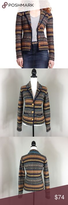 Anthropologie Sparrow Fairisle Blazer Anthropologie Sparrow Fairisle Blazer. Size medium. Approximate measurements flat laid are 23' long, 19' bust, and 25' sleeves. Pre-owned condition with no major flaws and basic wear. Worn in the TV show Vampire Diaries by character Bonnie Bennet. 100% lambswool. ❌I do not Trade 🙅🏻 Or model💲 Posh Transactions ONLY Anthropologie Jackets & Coats Blazers