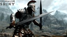 Environment Mapped Imperial Heavy Armor for Skyrim. Part of the SkyRealism - Shiny project. Imperial Skyrim, Imperial Legion, Skyrim Armor Mods, Skyrim Nexus Mods, Tes Skyrim, Ancient Armor, Fallout Art, Armadura Medieval, Fantasy Story