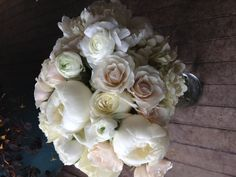Beautiful! #white #wedding #flowers