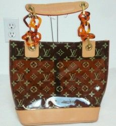 aae2653f5c92 Louis Vuitton Monogram Ambre Clear Tote Handbag