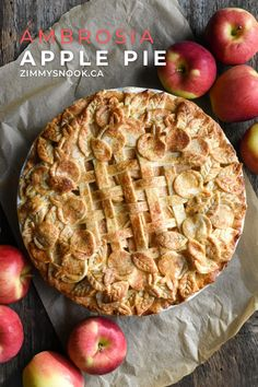 Celebrate #PiDay #Thanksgiving or anyother day ending in a 'y' with an Ambrosia apple pie… an apple lover's pie, with a short crust pasty. Be well my friends!  #applepie #thanksgivingrecipes #thanksgivingdessert  Apple Desserts, Apple Recipes, Wine Recipes, Pi Day, Recipe Link, Thanksgiving Recipes, Apple Pie, Sweets, Nook