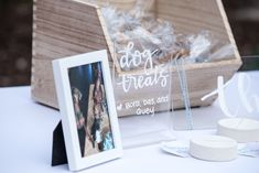 Wedding Details and Decor for a Spring Outdoor Wedding at Crooked Willow Farms in Larkspur, CO Wedding Favor Dog Treats Wedding Crafts, Wedding Favors, Wedding Decorations, Wedding Ideas, Willows Farm, Wedding 2017, Dog Treats, Farms, Wedding Details