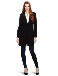 Vince Camuto Women's Long One Button Topper, Rich Black, Small Vince Camuto. $97.78