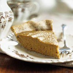 Pumpkin Pie with Pecan Pastry Crust Recipe | MyRecipes.com