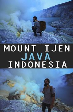 Mount Ijen is an active volcano in East Java, Indonesia. How to get to Mount Ijen, where to stay, Mt. Ijen tour price - a complete guide. Travel And Tourism, Travel Destinations, Country Maps, Active Volcano, Go Outdoors, Travel Guides, Travel Tips, Travel Memories, Outdoor Camping