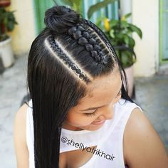 Cool Braid Hairstyles, Easy Hairstyles For Long Hair, Baddie Hairstyles, Teen Hairstyles, Braids For Long Hair, Pretty Hairstyles, Curly Hair Styles, Natural Hair Styles, Hair Upstyles