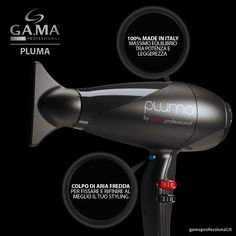 Basta un colpo di aria fredda per fissare il tuo styling. 100% made in Italy, il massimo equilibrio tra potenza e leggerezza. The lighter, fastest and most powerful professional hair dryer that enhances the charm and quality of any beauty salon.  #hairdryer. #gama #gamaprofessional #capelli #phon #asciugacapelli #beautytechnology #hair #dryer #haircare #blowdry #blowdryer