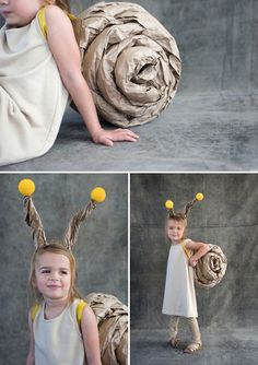 Still looking for some Halloween costume inspiration? Look no further than this quick and easy DIY snail...
