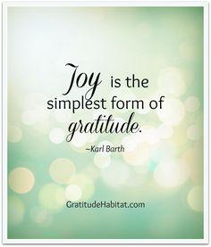 Joy and gratitude.  Visit us at: www.GratitudeHabitat.com #Joy #Gratitude-quote…