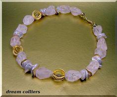Bergkristall - imposante Bergkristall - Perlenkette - ein Designerstück von Dream-Colliers bei DaWanda