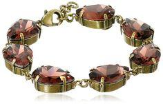 Sorrelli  Sangria www.teelieturner.com Repeating Pear Crystal Bracelet, 7.75 $59.28 #sparkle