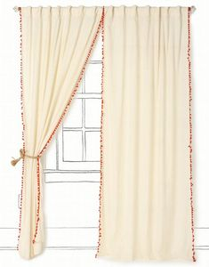 I'm betting I could make these pom curtains instead of buying them from Anthropologie...